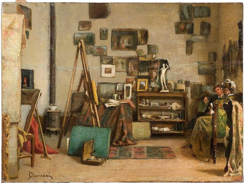 File:Artgate Fondazione Cariplo - Borrani Odoardo, Visita allo studio.jpg