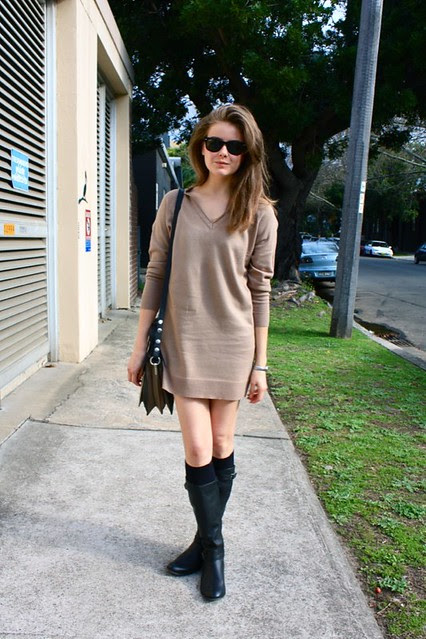 sweater dress a
