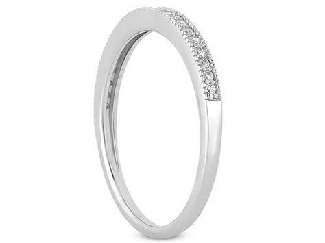 Diamond Micro  Pave Diamond Milgrain Wedding Ring Band in