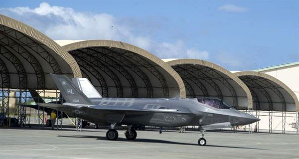 An F-35A Lightning II is ready for takeoff at Joint Base Pearl Harbor-Hickam in Hawaii...on October 13, 2017.