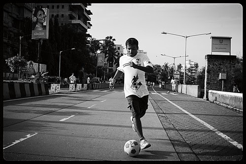 Football Marathon Shot By Marziya Shakir  4 Year Old At Carter Road Bandra by firoze shakir photographerno1