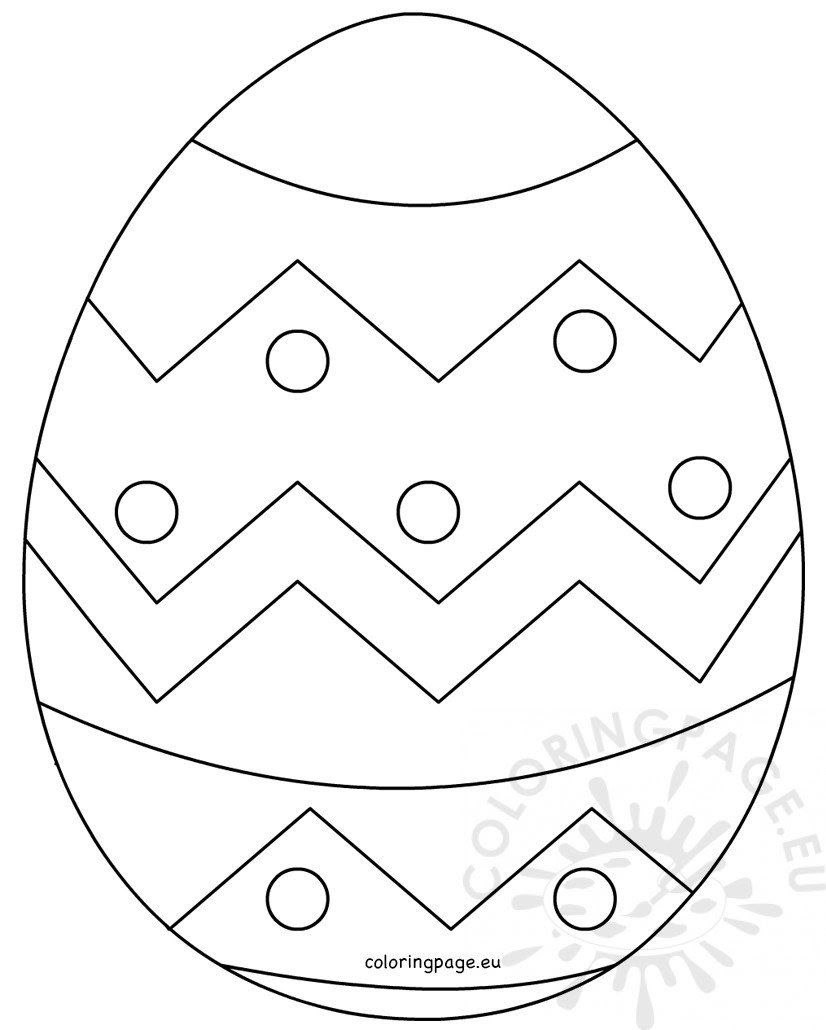 Large Easter Egg patterns - Coloring Page