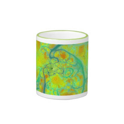 The Green Earth – Teal & Gold Tides Mugs