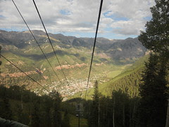 View of Telluride from the gondola