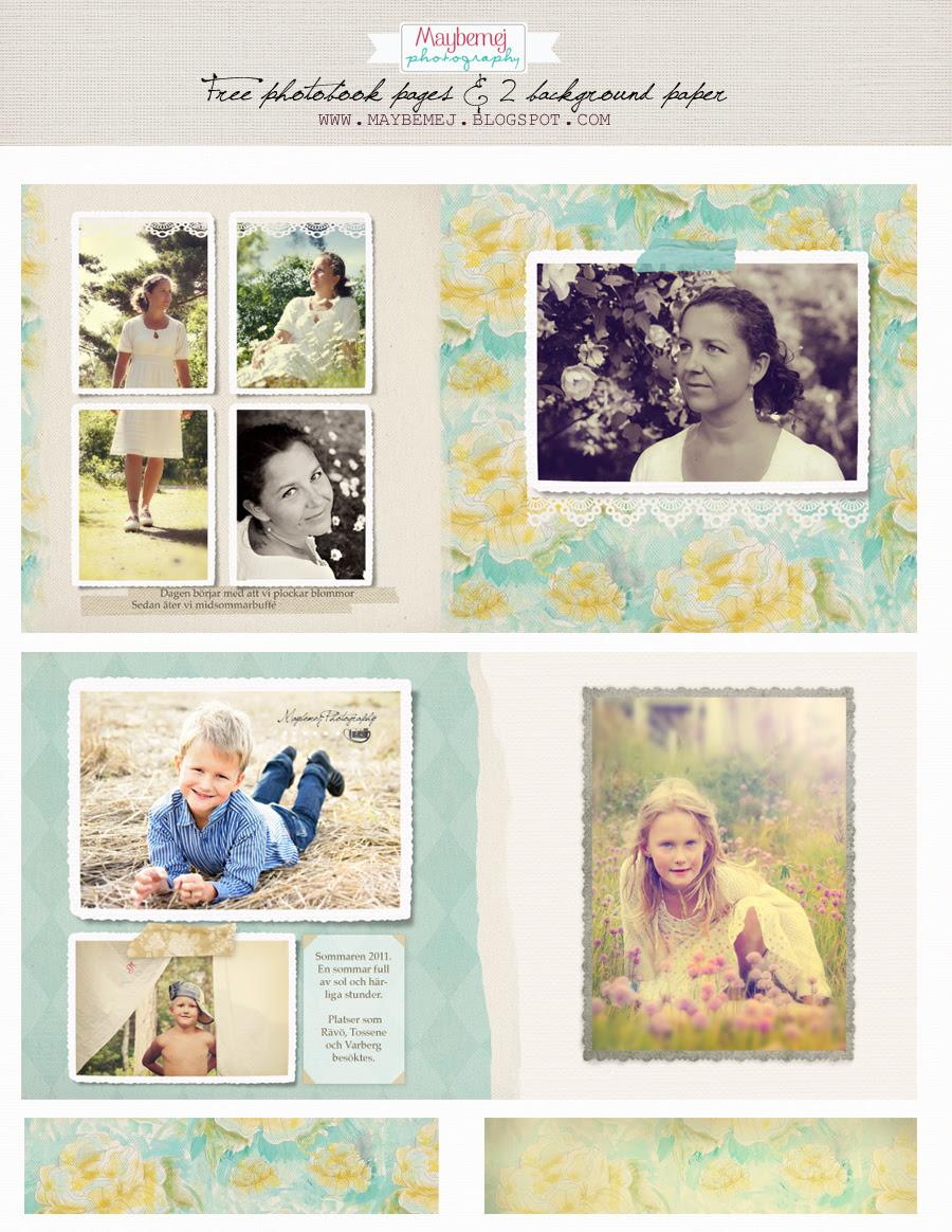 Maybemej old photobook page- freebie