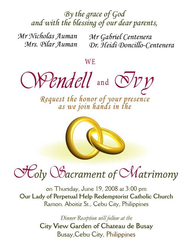 best wedding invitation letter