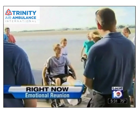 Man shot in Haiti thanks Trinity Air Ambulance Service