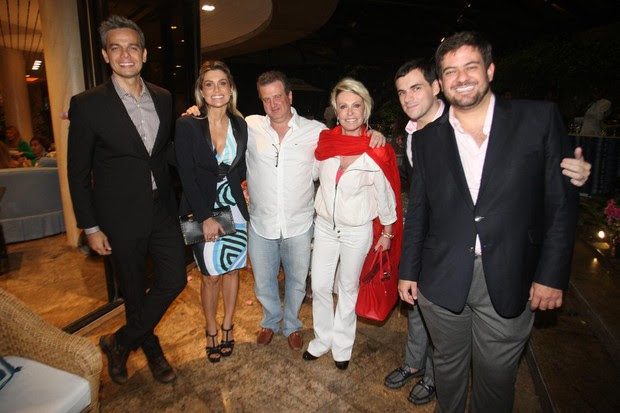 Otaviano Costa, Flávia Alessandra, Mauro Bayout, Ana Maria Braga, Sandro Barros e Bruno Astuto (Foto: Antonio Kämpffe / Divulgação)
