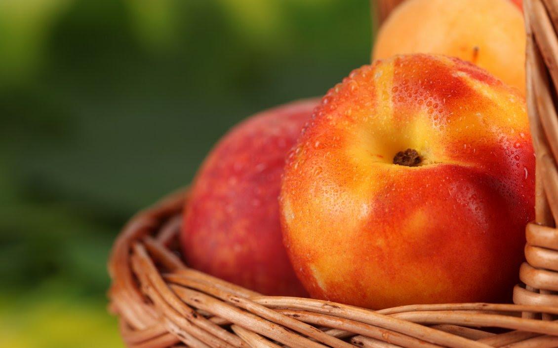Good Morning Fresh Fruits Macro Peaches