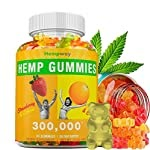 Hemp Gummies 300,000 | Extra Potency | 100% Natural Hemp Premium Extract | Stress & Anxiety Relief | Supports Healthy Skin, Nails & Hair | Omega 3-6-9 | 30 ct