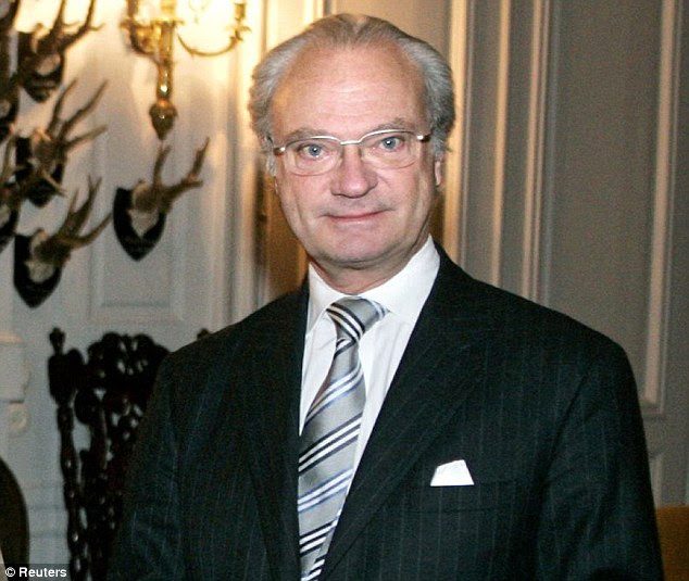 Reluctant monarch: Markovic claimed to have photographs of King Carl XVI Gustaf with naked strippers, and was one of the sources for a biography which claimed the king visited sex clubs and cheated on Queen Silvia