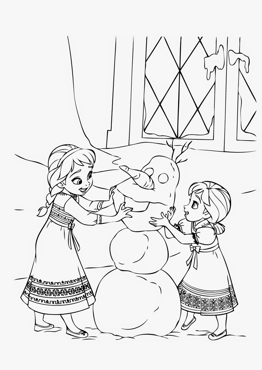Anna And Kristoff Coloring Pages At Getdrawingscom Free For