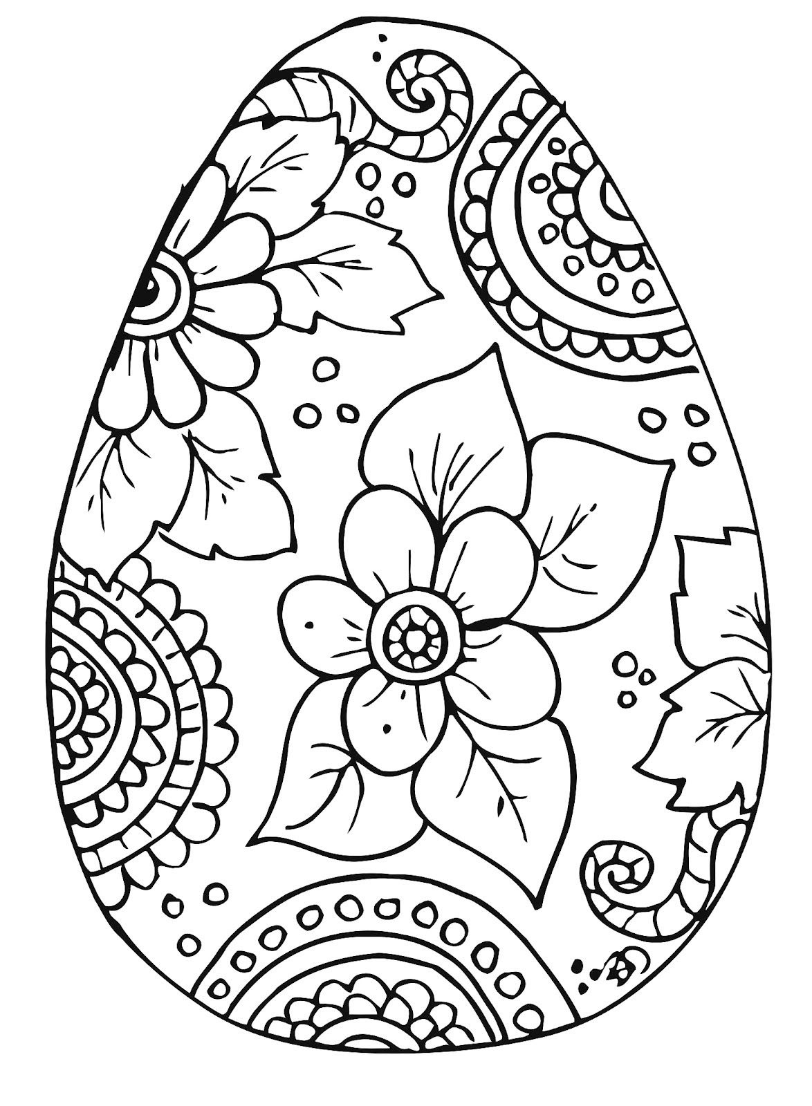 Easy Easter Coloring Pages at GetDrawings | Free download