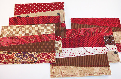 Fabric cards - reds