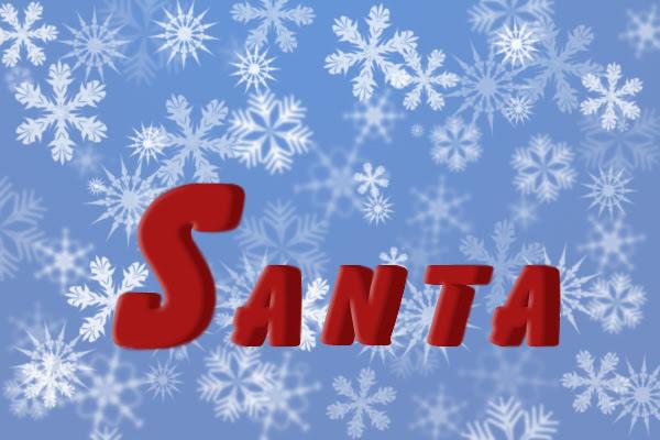 Santa Text image 16
