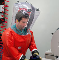 Photo: EIS Officer working in laboratory
