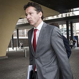 Il presidente dell'Eurogruppo, Jereon Dijsselbloem (Ap)
