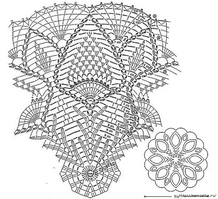 Crochet.  napkins (2) (700x639, 372Kb)