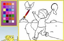 Kelebek Avcısı Kayu Boyama Oyunu Oyna Kayu Oyunları