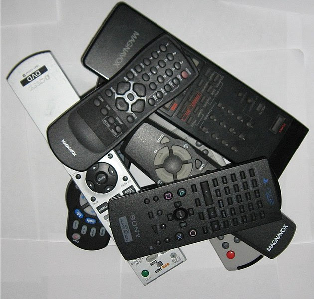 a bunch of random remote controls