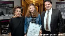 Deutschland Dresden    Schülerin erhält Preises für ihre Zivilcourage