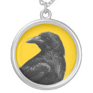 Black Crow necklace necklace
