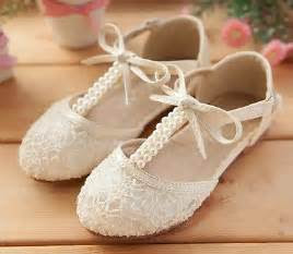 details  handmade pink lace flower girl shoes ivory