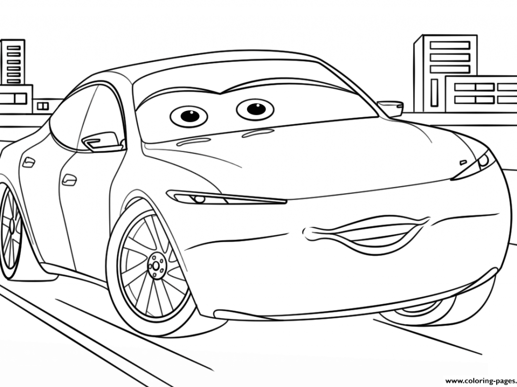9400 Top Cars 3 Coloring Pages Jackson Storm Download Free Images