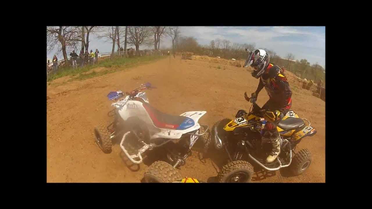 Sleepy Hollow MX ATV Quad Race MDRA series YFZ450 April 2013 - YouTube