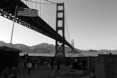 Golden Gate Bridge 75th Anniv - Roof top of Fort Point