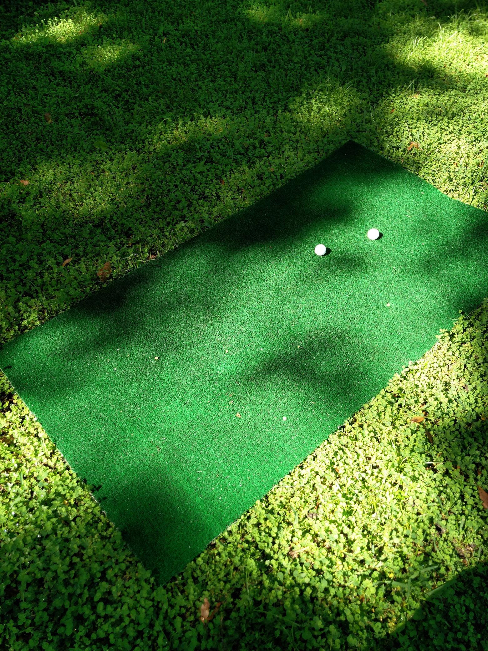 My $12 full sized golf mat from Home Depot Planning on cutting a