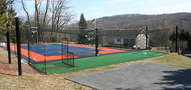 Family Home Basketball Courts Backyard Putting Greens Sport