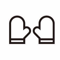 キッチンミトンシルエット イラストの無料ダウンロードサイト