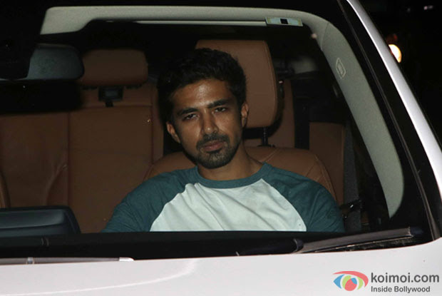 Saqib Saleem during the Special Screening of Fan at YRF Studios