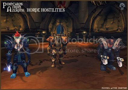 Postcards of Azeroth: Horde Hostilities, by Rioriel Ail'thera