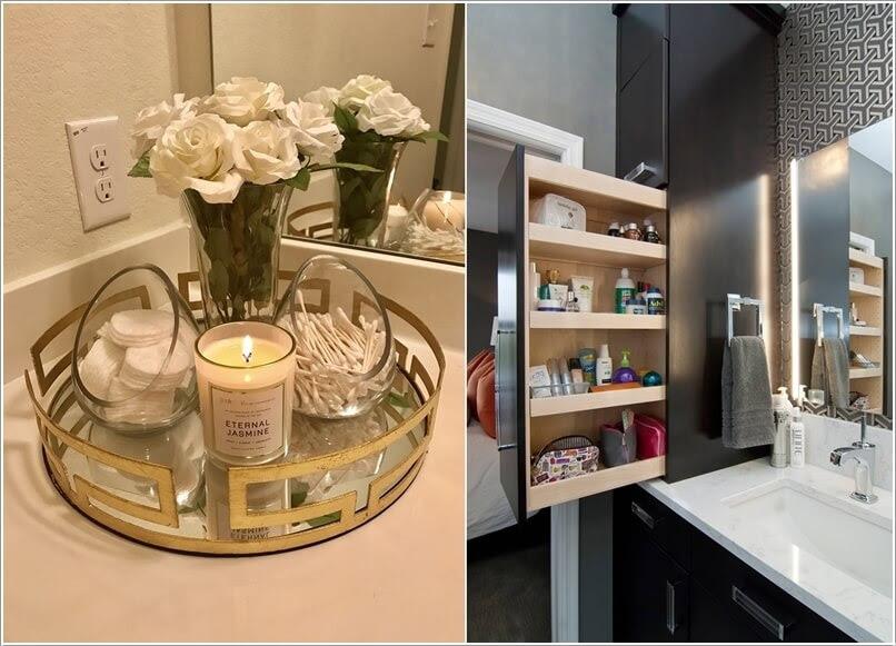 Smart Idea Bathroom Vanity Organizer Ideas, Bathroom Counter Storage Ideas