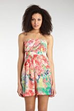 Warehouse Impact Poppy Bandeau Dress