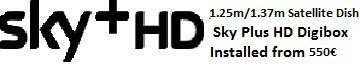 1.25m satellite dish installations for uk tv sky+hd costa blanca spain