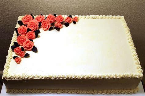 Cakes   Cake   Wedding sheet cakes, Rectangle cake, No