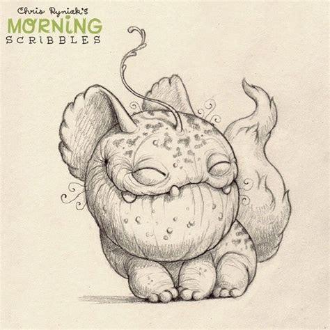 morning scribbles images  pinterest monsters