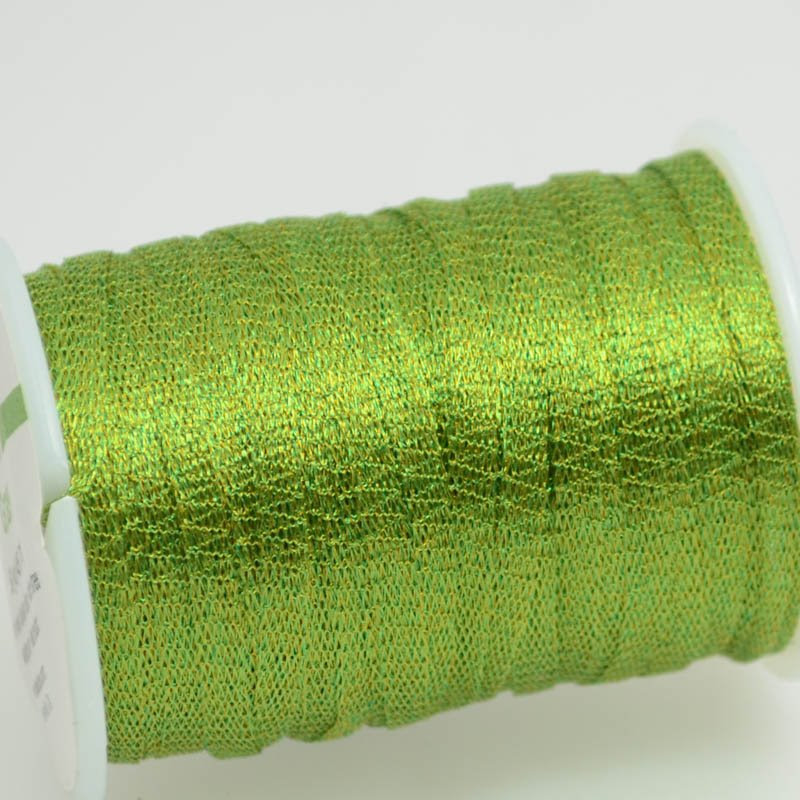 s38748 Stringing - 3 mm Wire Lace Ribbon - Grass (Yard)