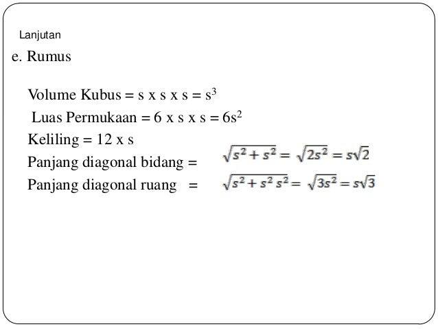 Gambar 10: Bagaimana rumus cara mencari volume kubus jika ...