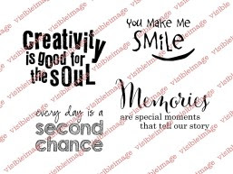 Visible Image You Make Me Smile stamp set