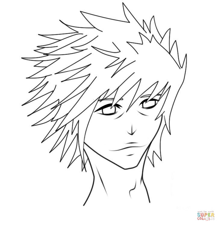 L Lawliet From Death Note Coloring Page