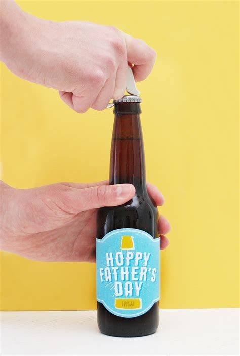 Free Printable! Hoppy Father's Day Beer Label