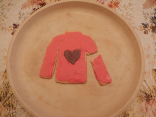 Purple Heart Christmas sweater cookies