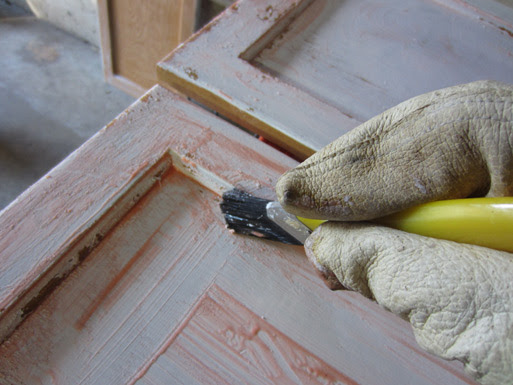 Preparing Kitchen Cabinets for Painting: Stripping and ...