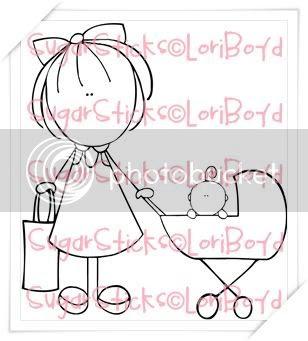 Sugar Stick - Girl with Stroller