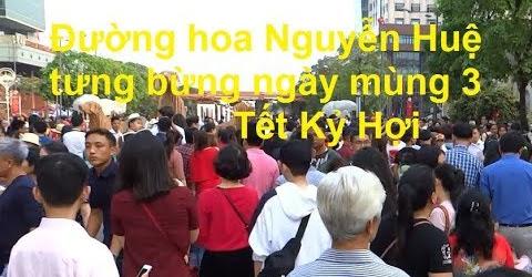 Đường hoa Nguyễn Huệ tưng bừng ngày mùng 3 Tết Kỷ Hợi.