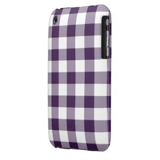Purple and White Gingham Pattern